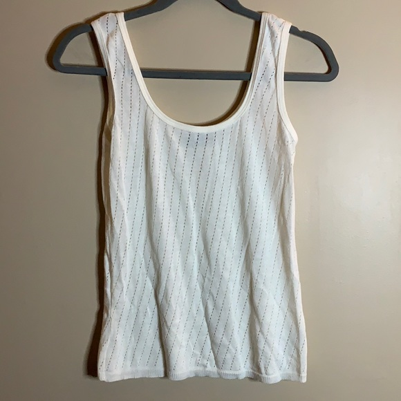 American Apparel Off-White Cropped Tank